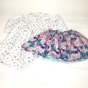American Girl Pajama Set And Skirt Lot